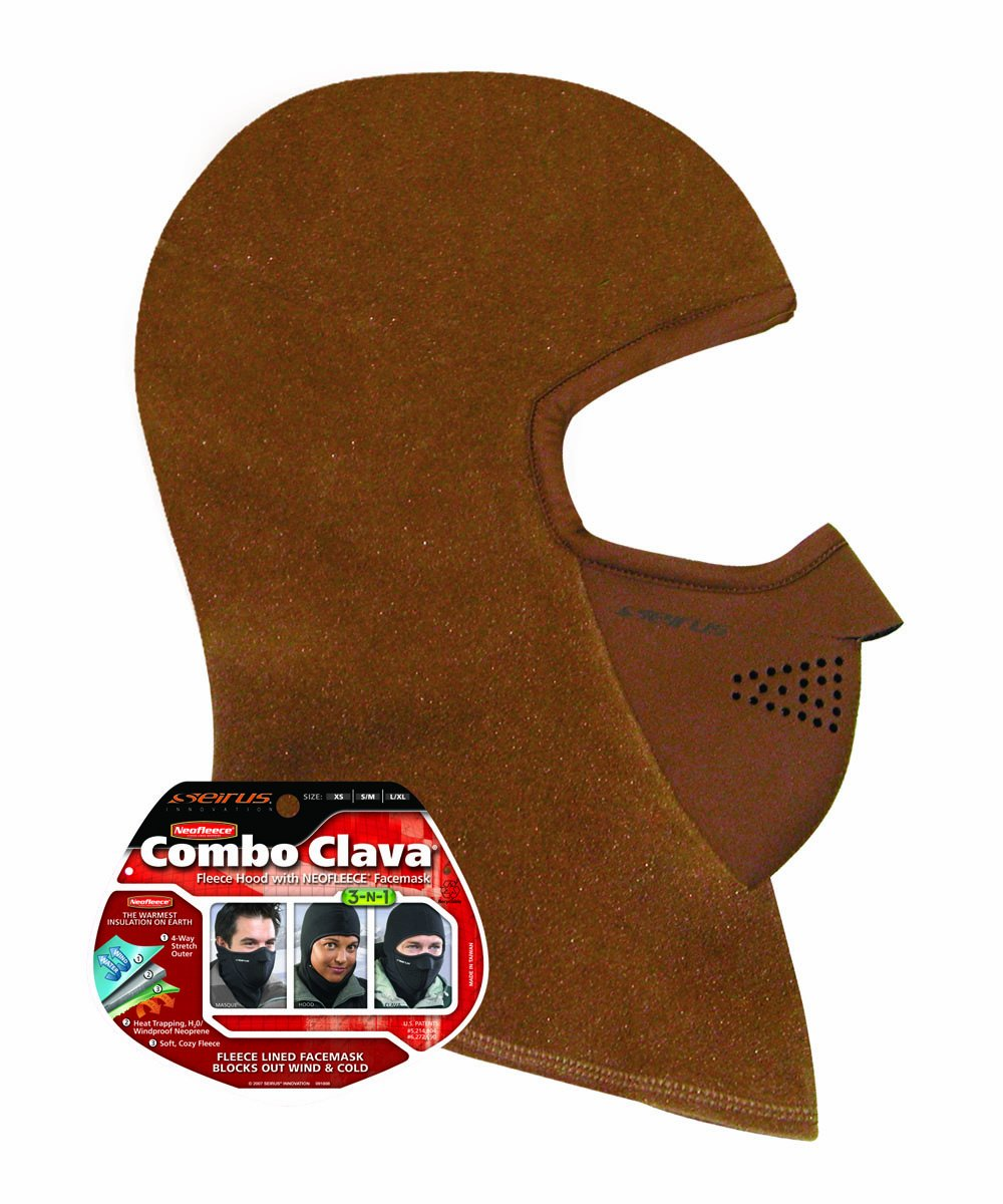 Seirus Innovation Men's Combo Clava, Cocoa, Large/X-Large