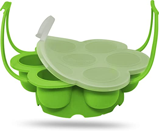 Salbree Egg Bite Mold for Instant Pot Accessories Silicone Instapot Steamer Molds Container for Eggs Meatloaf Vegetables fits Insta Pot Cooker 5qt 6qt ...