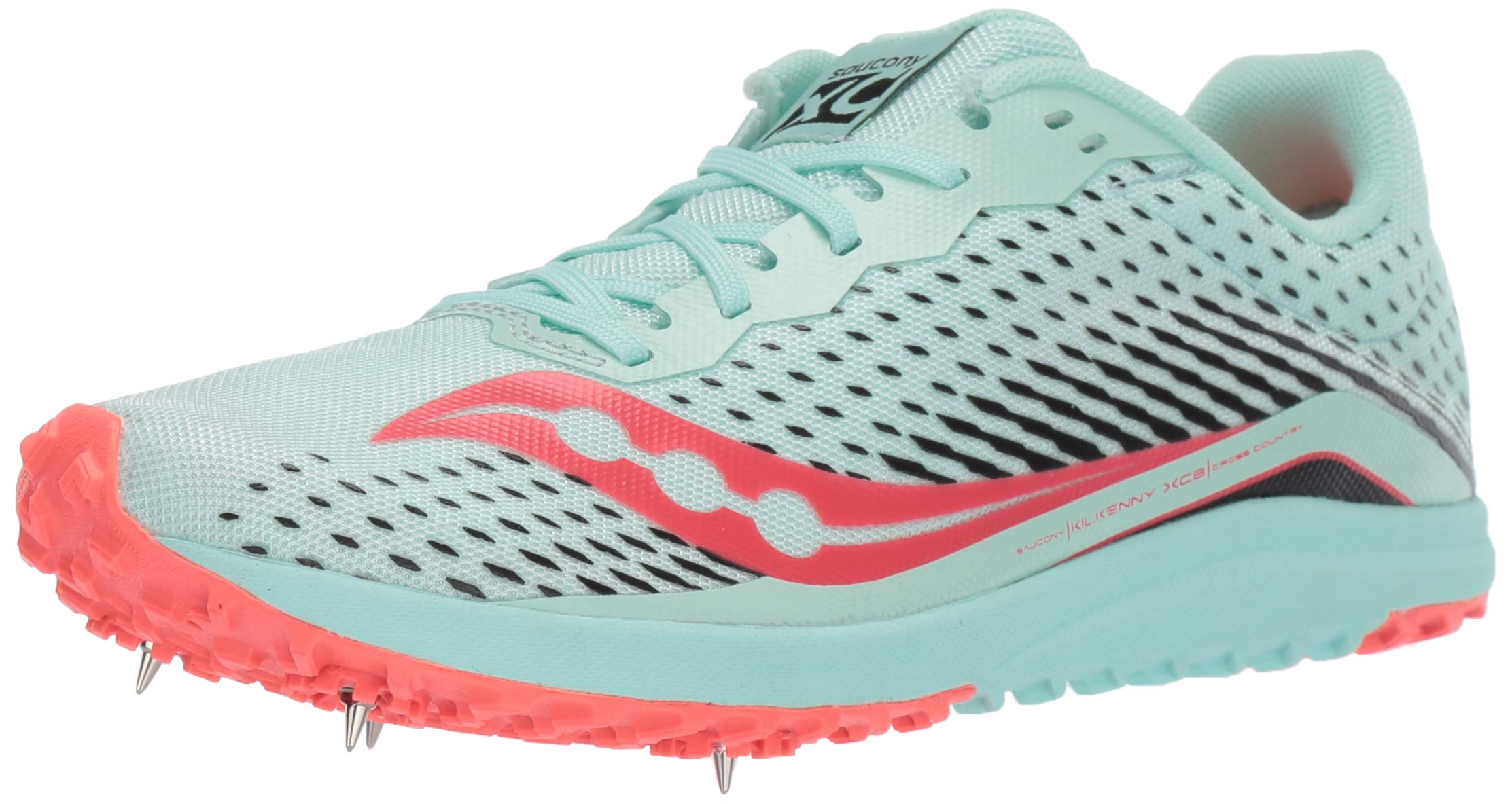 Saucony Women's Kilkenny XC8 Track Shoe, Mint/Vizi Coral, 11.5 Medium US by Saucony