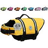 Vivaglory Dog Life Jacket Adjustable Dog Lifesaver Safety Reflective Vest Pet Life Preserver