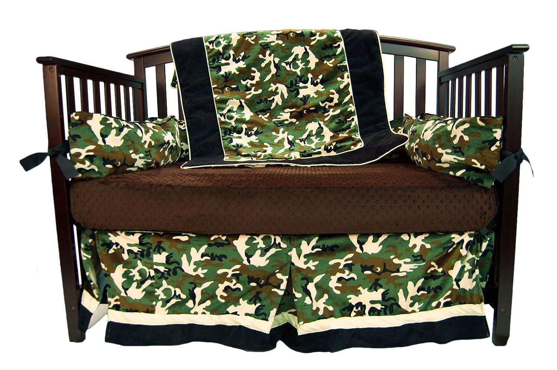 Caught Ya Lookin Crib Bedding Set Pink and Green Owls