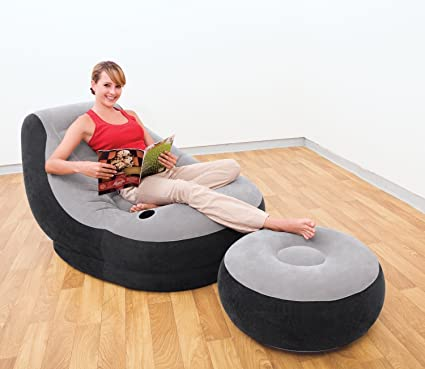 Remarkable Intex Inflatable 1 Person Chair Ottoman Foot Stool 68564 Alphanode Cool Chair Designs And Ideas Alphanodeonline