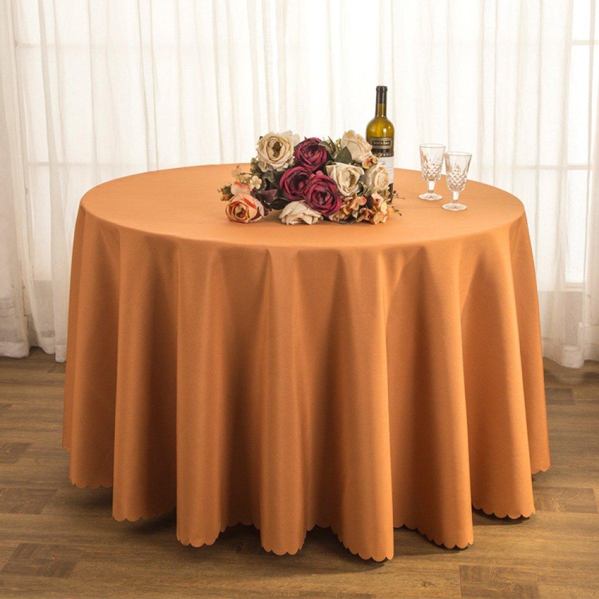 DONG Tischtuch Tischdecke Stoff Tee Tischdecke Hotel Restaurant Polyester Tischdecke Konferenztisch Rock Hochzeit Jacquard Runde Tischdecke Öl-Besteändig Leicht zu reinigen (Farbe   I, größe   160cm) B07CSR33WB Tischdecken Ausgezeichn