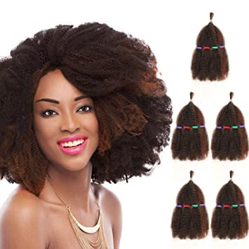 5 Bundles Afro Kinkys Curly Hair Extensions 13 X 5 Piano Blend Of Dark Auburn Light Ginger Afro Twist