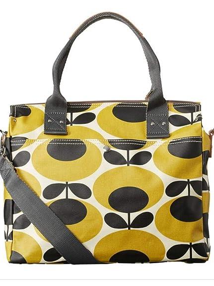 1073153dde Orla Kiely Giant Oval Flower Messenger Bag in Mustard  Amazon.co.uk  Shoes    Bags