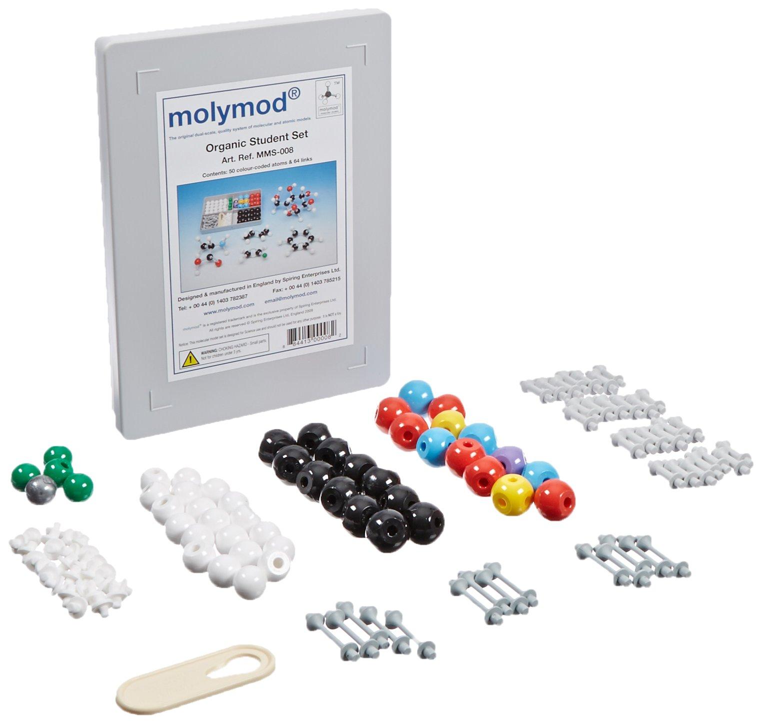 Molymod MMS-008 Organic Chemistry Molecular Model, Student Set (53 Atom Parts)