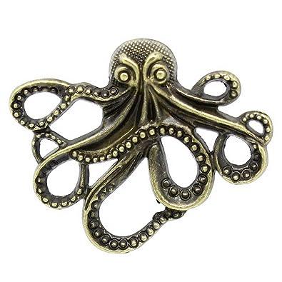 "20 PCs Charm Pendants Octopus Bronze Tone 4.3cmx3.5cm 1 6//8/""x1 3//8/"""