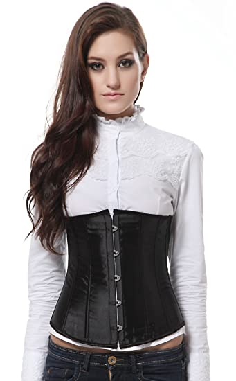 Vacodo Women s Underbust Satin Lace Up Waist Cincher Corset Shaper Top at  Amazon Women s Clothing store  9041eb083