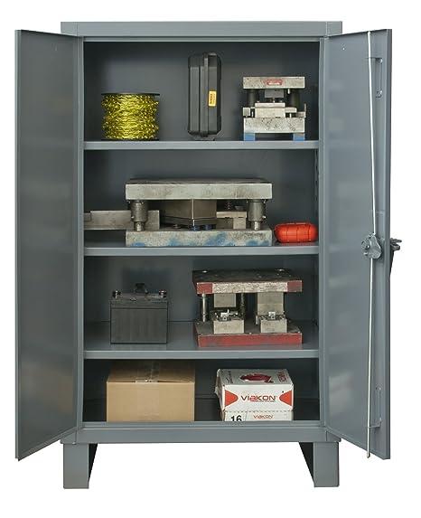 Durham Extra Heavy Duty Welded 12 Gauge Steel Cabinet With 102 Bins 3 Shelves HDC36-102-3S95 24 Length x 36 Width x 78 Height 1900 lbs Shelf Capacity