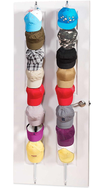 Hat Rack Organizer Hanger Door Black Holds 10 Hats for Baseball Cap Holder Racks