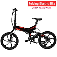 Cooshional Electric Mountain Bike for Adults Men, E-bike Bicycle with Removable Lithium-Ion Battery (UK STOCK)