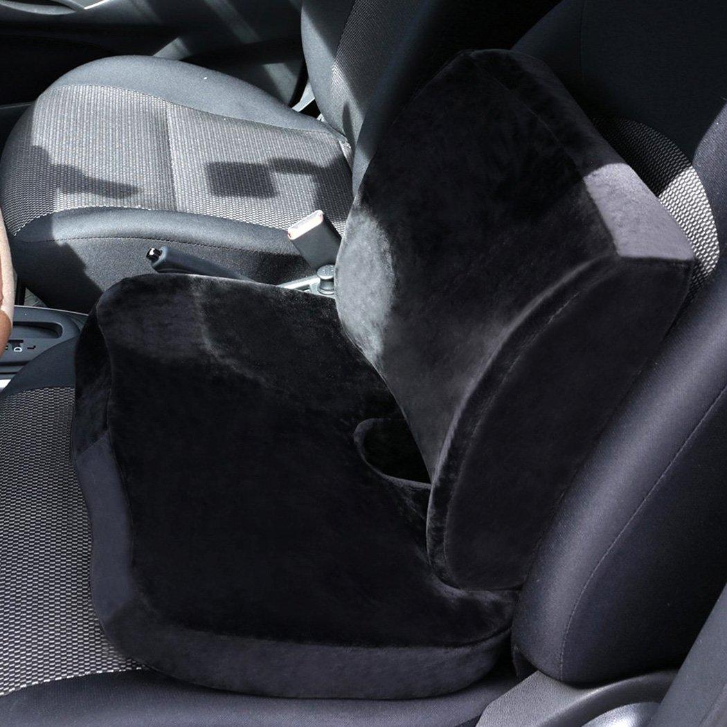 FUCNEN - Cojín lumbar de espuma con efecto memoria para asiento de coche, furgoneta, camión, oficina, silla de ordenador, silla de ruedas, cómodo, ...
