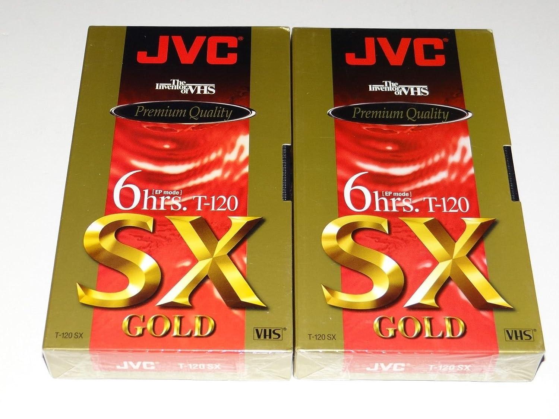 JVC Premium Quality 6 Hrs. T-120 Sx Gold VHS Tapes 3 Pack T-120SXB