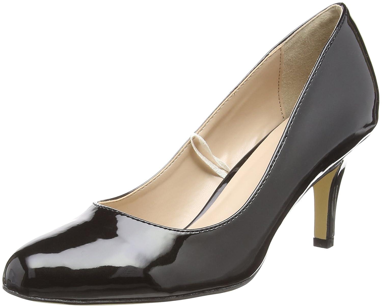 Lotus Altar - Zapatos de Tacón con Punta Cerrada Mujer 39 EU|Negro (Black Shiny Blk Shiny)