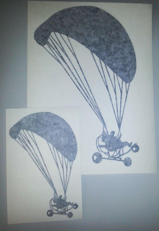 2 x Paramotor Powered Paraglider PPG Vinyl Decal Sticker Trike