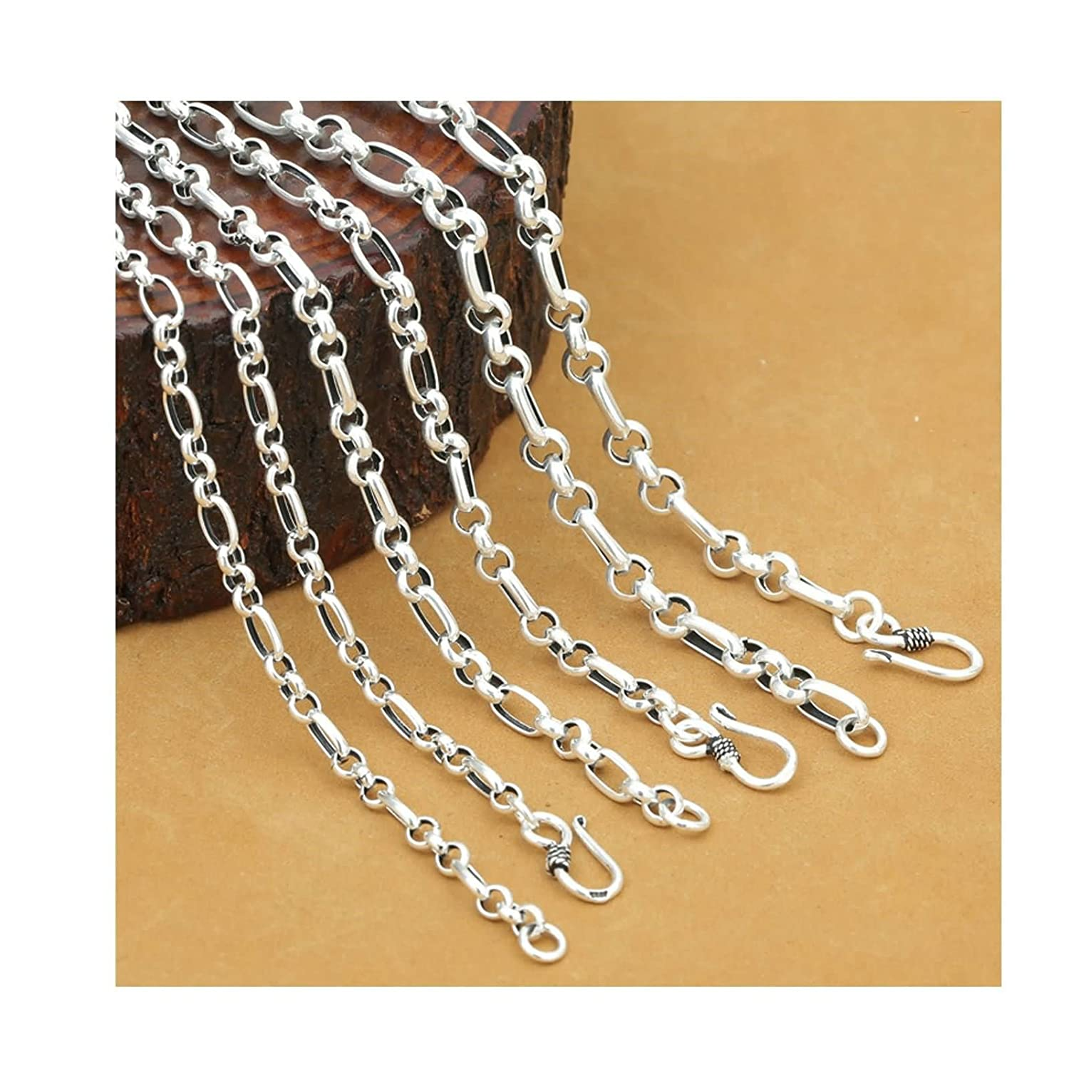 Aooaz Women Silver Material Necklace Rolo Link Chain Necklace Mens Necklace