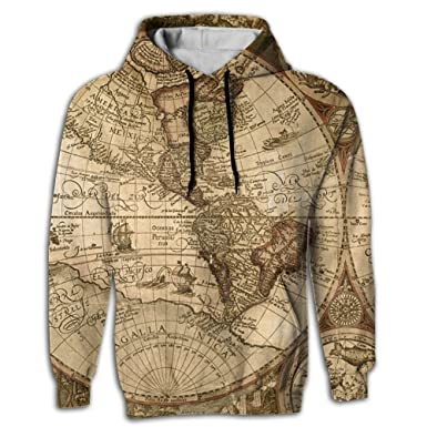 World Map Sweater.Amazon Com Uuw66 Hoodie Sweater World Map Sublimation Full Print