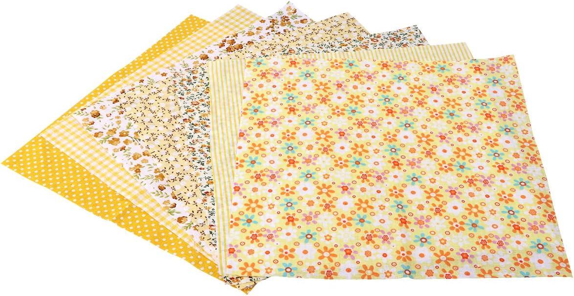 gelb rosenice 7/UNIDs Baumwollstoff Patchwork Kunst DIY Material f/ür