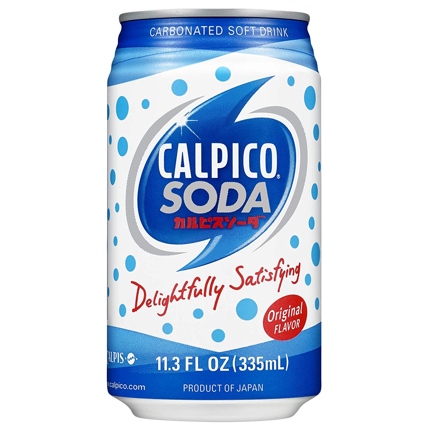 CALPICO SODA, Carbonated Soft Drink, Hint of Citrus Flavor, Japanese Soda, Made With CALPICO and Carbonated Water, 11.3oz Can (Pack of 24)