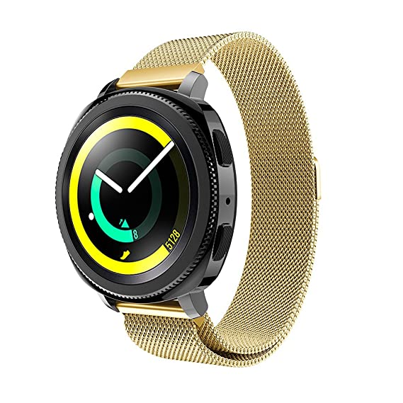 Gosuper for Samsung SM-R600 Gear Sport Band,Milanese Stainless Steel Quick Release Sport Replacement Band for Samsung Gear S2 Classic Smart Watch/Moto ...