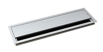 Gedotec passe c ble rectangulaire en aluminium argenté anodisé