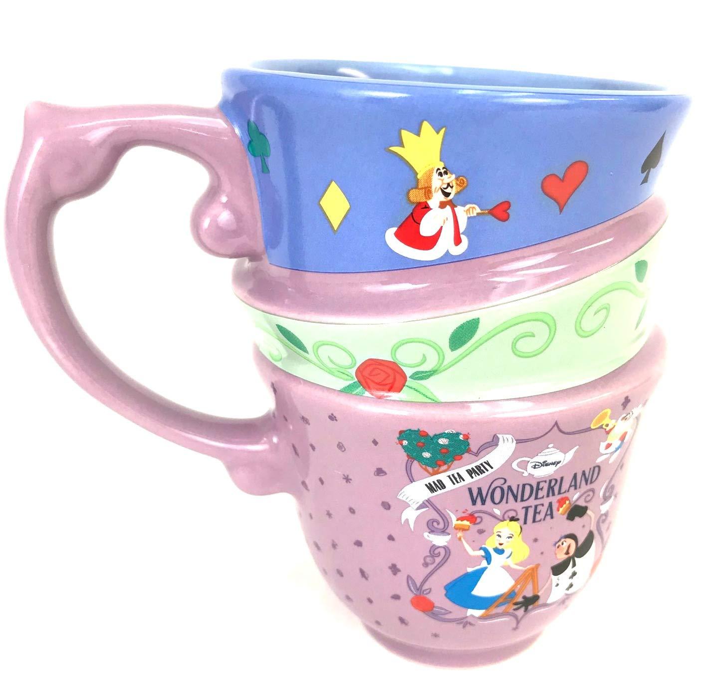 Disney Parks Exclusive Alice in Wonderland Triple Stack Quotes Ceramic Cup Mug