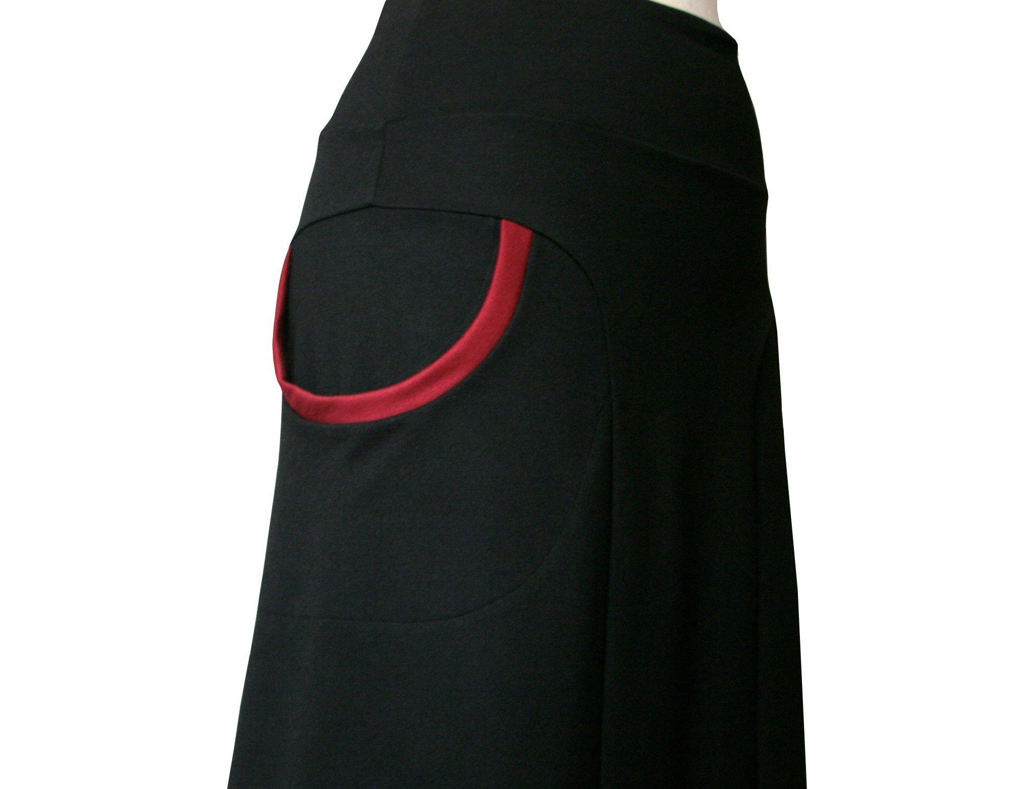 A line skirt with pockets, Big pockets skirt, Plus size skirt