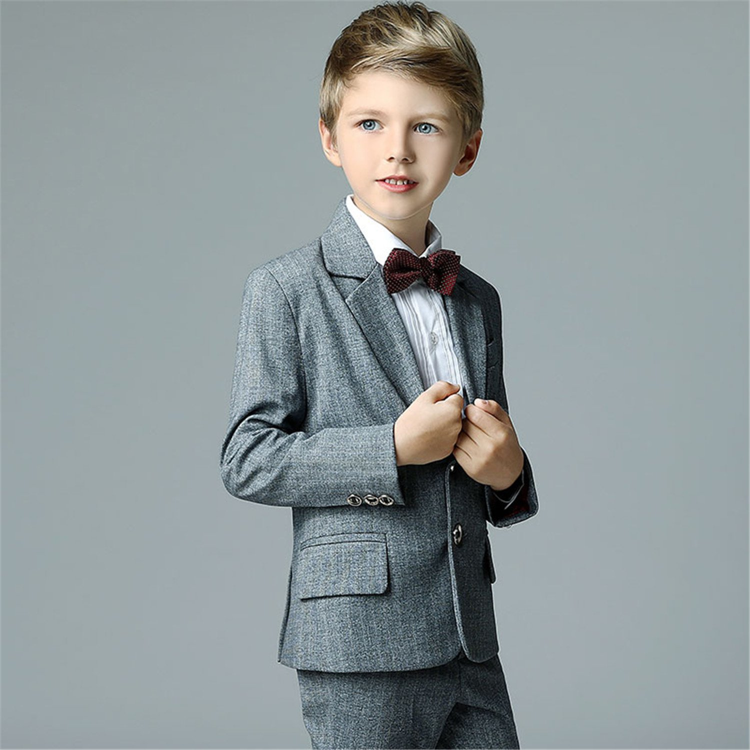 Amazon.com: Yanlu Boys Suit Set For Weddings With Jacket Pants Shirt ...