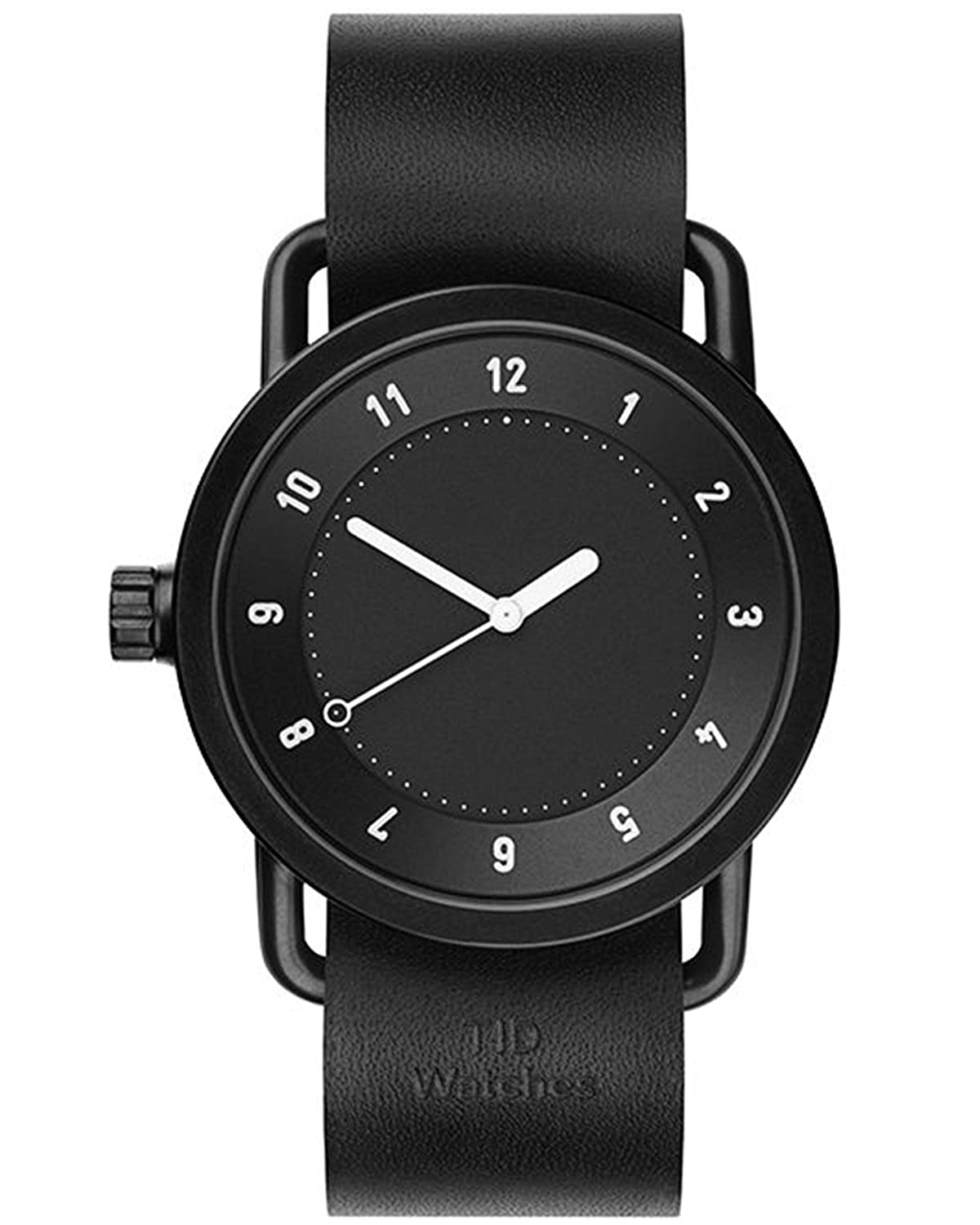 TID No.1 Black-Black Leather horloge 10010101