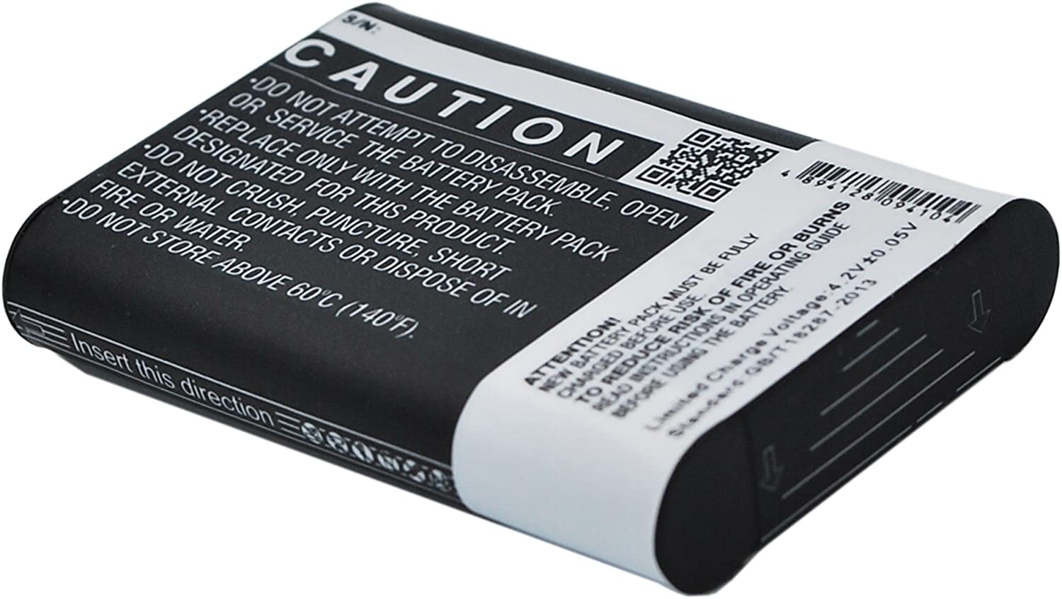 640mAh Replacement for Sony Action Cam Mini AZ1 P//N NP-BY1 HDR-AZ1//W Battery HDR-AZ1