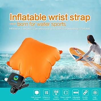 Wearable para salvar vidas pulsera piscina salvavidas vida boya flotador de escape Auto Rescate pulsera globo para natación: Amazon.es: Deportes y aire ...