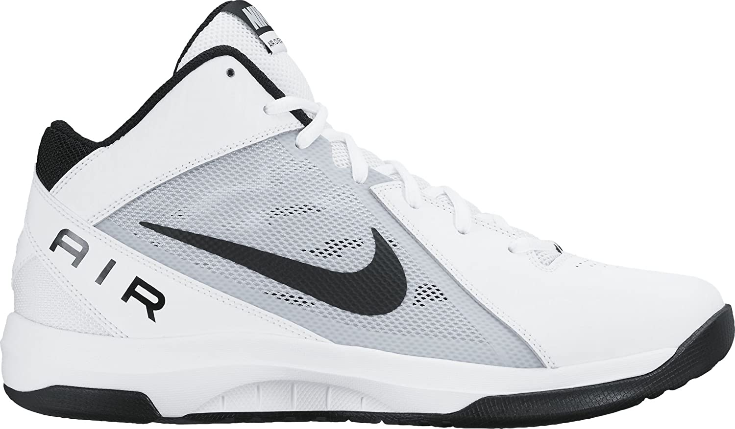 Nike Mens The Air Overplay IX WhiteBlackPure Platinum Basketball Shoe 13 Men US