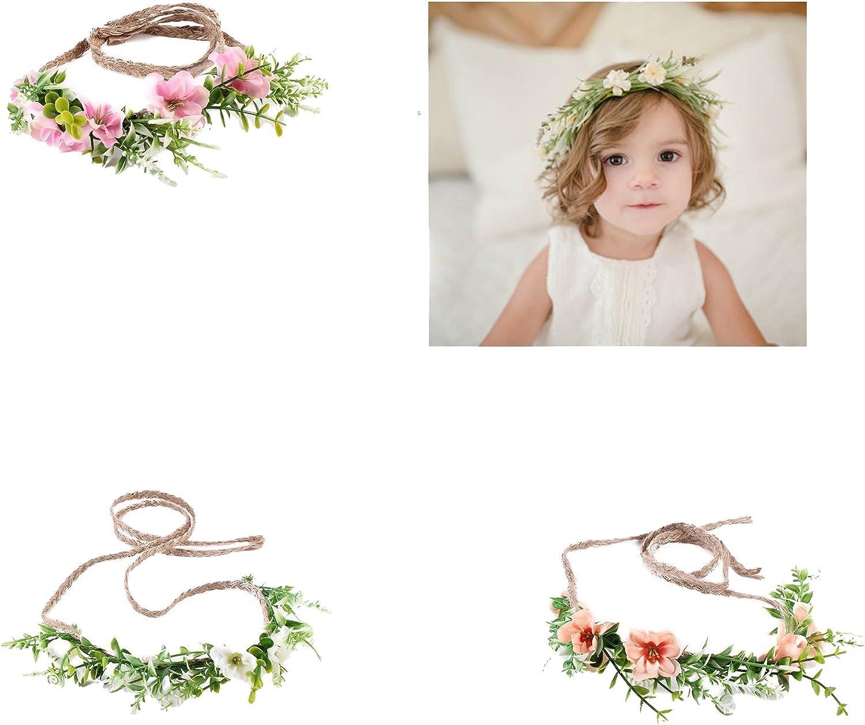 Baby Hair Wreath Wedding Party Flower Crown Kids Hairband Hair Accessories F