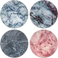 CARIBOU Coasters Marble Stone Design Absorbent Neoprene Coasters for Drinks, 4pcs Set