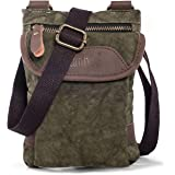 Small Crossbody Cellphone Purse for Galaxy S8 Plus Cross-body Casual Shoulder Travel Bag Belt Holster for Galaxy Note 8 LG G6/V30 Canvas Carrying Case Belt Pouch with Loop Strap Waist Bag Green