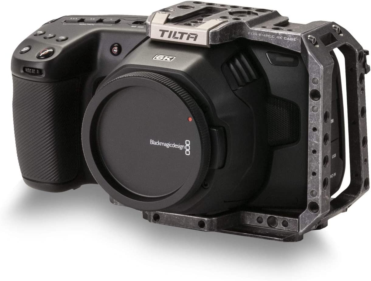 Tactical Gray Tiltaing Half Camera Cage for BMPCC 4K//6K