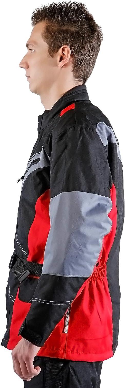 Lemoko Textile Motorcycle Jacket Black//Red