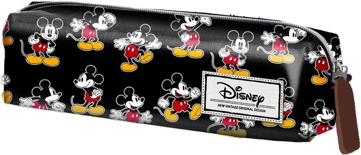 Mickey Mouse- Estuche portatodo Cuadrado, Color Negro, 22 cm (Karactermanía 33612): Amazon.es: Juguetes y juegos