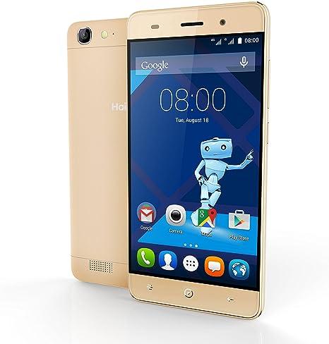 Haier Phone L56 Teléfono Móvil Dual SIM Pantalla de 13 cm (5), 16 GB, cámara de 13 MP, Android 5.1 Lollipop Oro: Amazon.es: Electrónica
