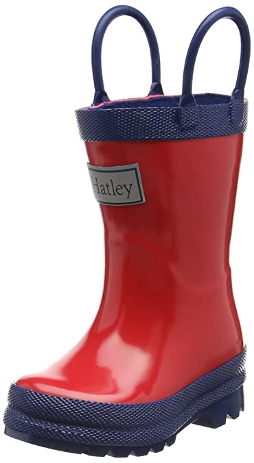 Hatley Mädchen Classic Rain Boots Arbeits-Gummistiefel, Red (Red/Navy), 34 EU