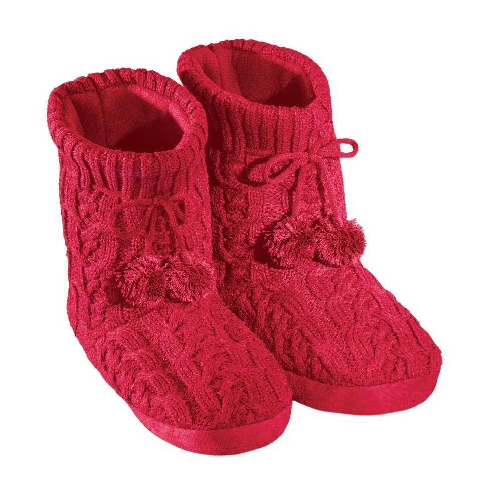 Women's Cable Knit Booties Collections Etc