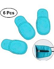 Frcolor Parche ocular para gafas para tratar ojos vagos / ambliopía / estrabismo, 6 piezas (azul)