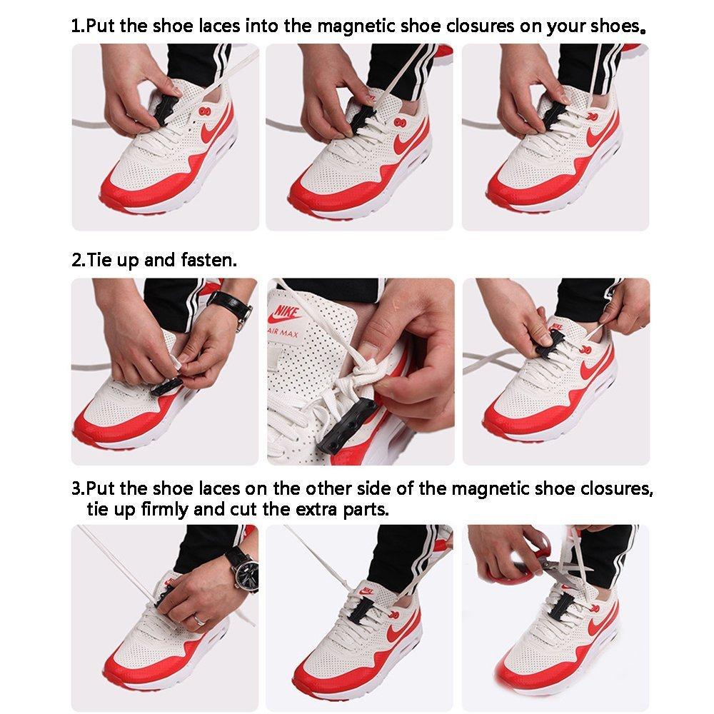 119a063c7508 Magnetic shoelaces closures magnetic shoe buckles no tie shoelaces never  tie laces again black shoes jpg