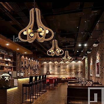 PY Personalidad nórdica iluminación Creativa Ropa Tienda decoración Restaurante Bar Industrial Viento Guita lámpara,UN