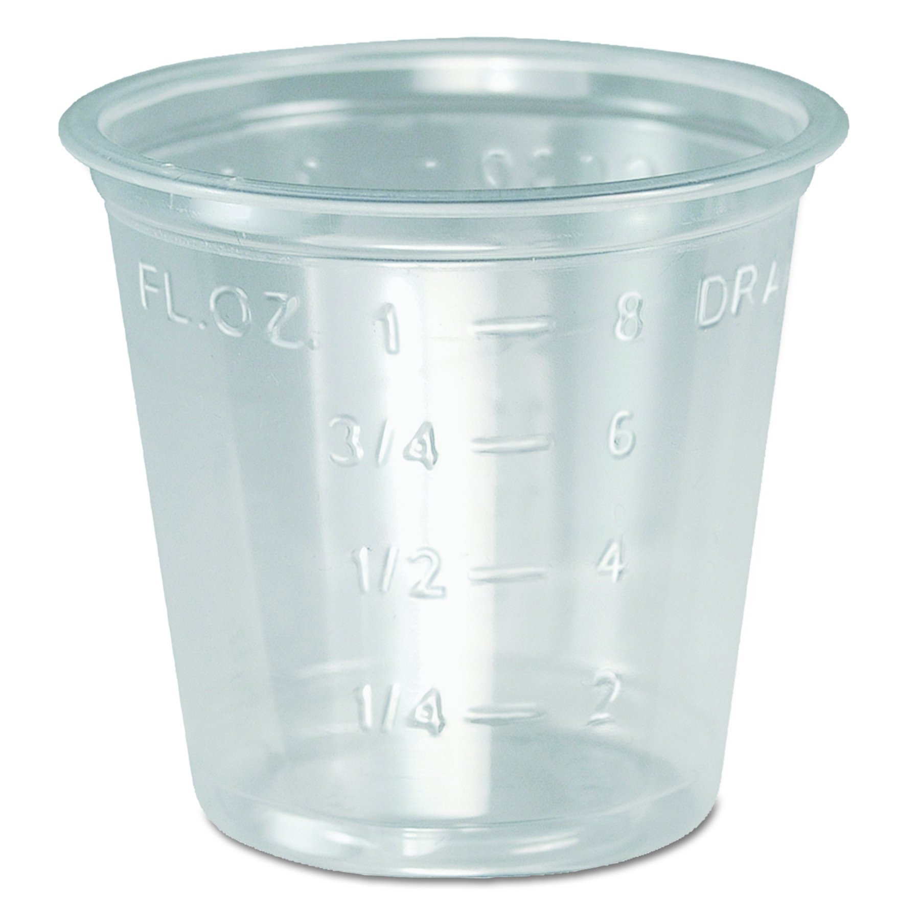 Dart P101M 1 oz Clear PS Portion Container (Case of 5000) by Solo Foodservice