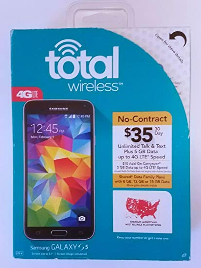Amazoncom Total Wireless Samsung Galaxy S5 16gb 4g Lte
