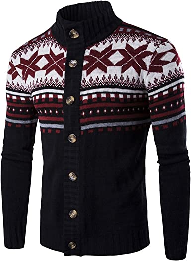 WSPLYSPJY Mens Pullover Christmas Slim Round Neck Knitted Casual Sweater