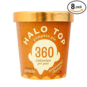 Halo Top Ice Cream Pint Pumpkin Pie 16 Ounce Pack of 8 Amazon