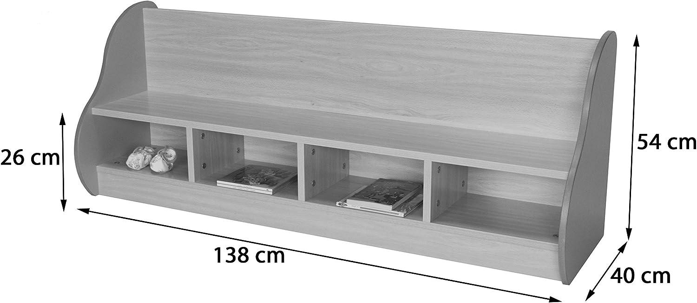 138 x 54 x 40 cm Mobeduc Bench for 4 Children Wood Dark Green