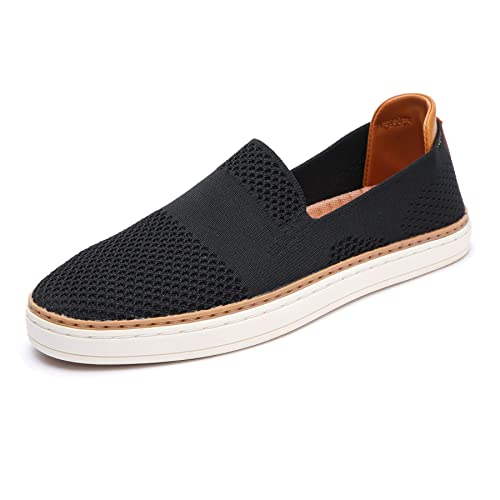 006a09686b98c TRULAND Women's Casual Shoes Slip On Sneakers - Breathable Stretch Knit  Loafers with Comfortable EVA Mesh Insole